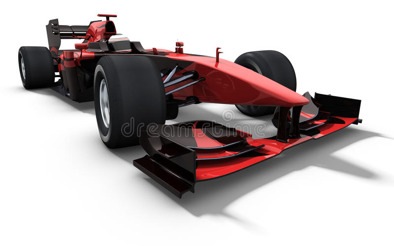Race car - red and black royalty free illustration