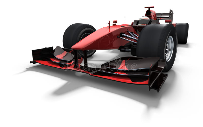 Race car - red and black stock illustration