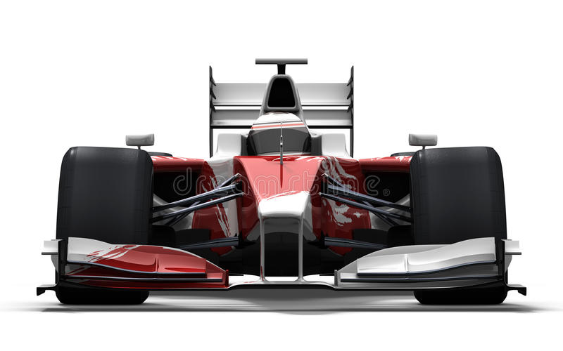 Race car - red and white vector illustration