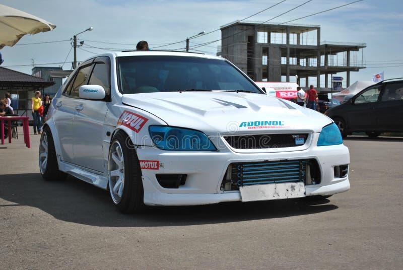 Race car toyota Alteza stock images