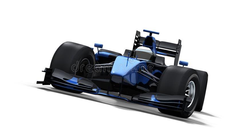 Race car on white - black & blue stock illustration