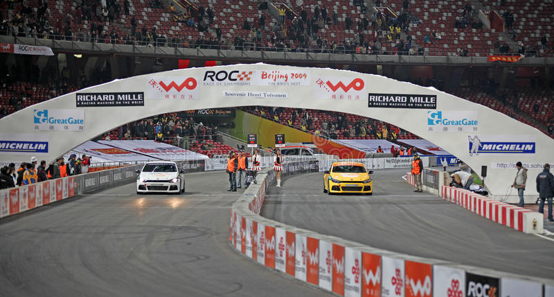 Race of Champions Beijing 2009-Celebrity Challenge royalty free stock photos