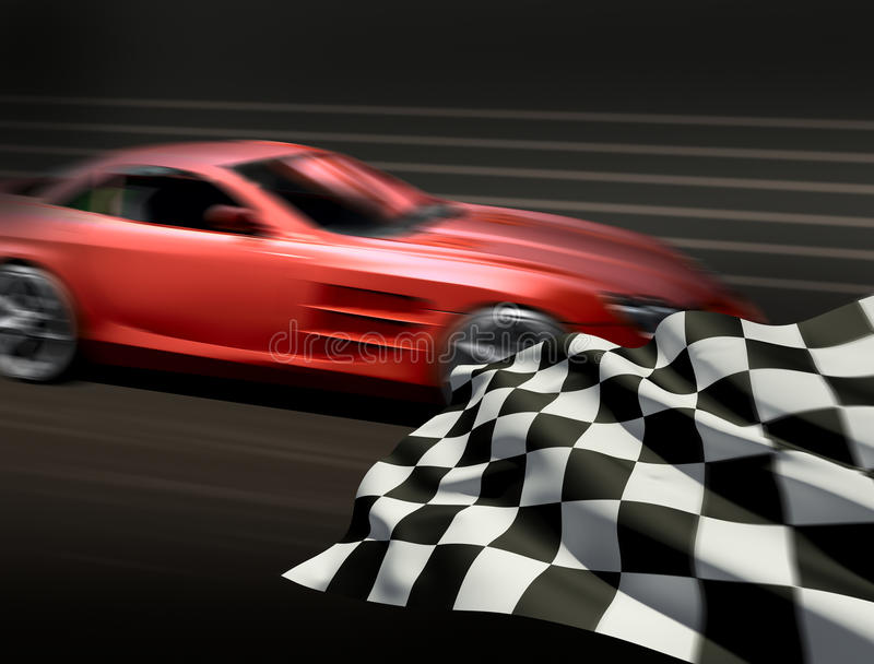 Download Race and chequered flag stock illustration. Illustration of blur - 12710957