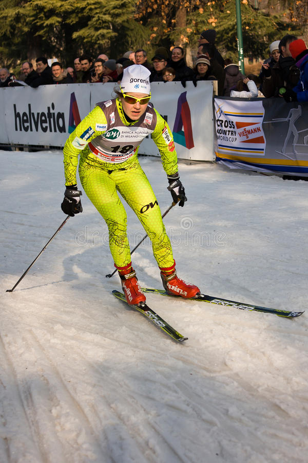Download Race In The City, FIS Cross-Country World Cup Editorial Stock Image - Image of lombardy, january: 22841519