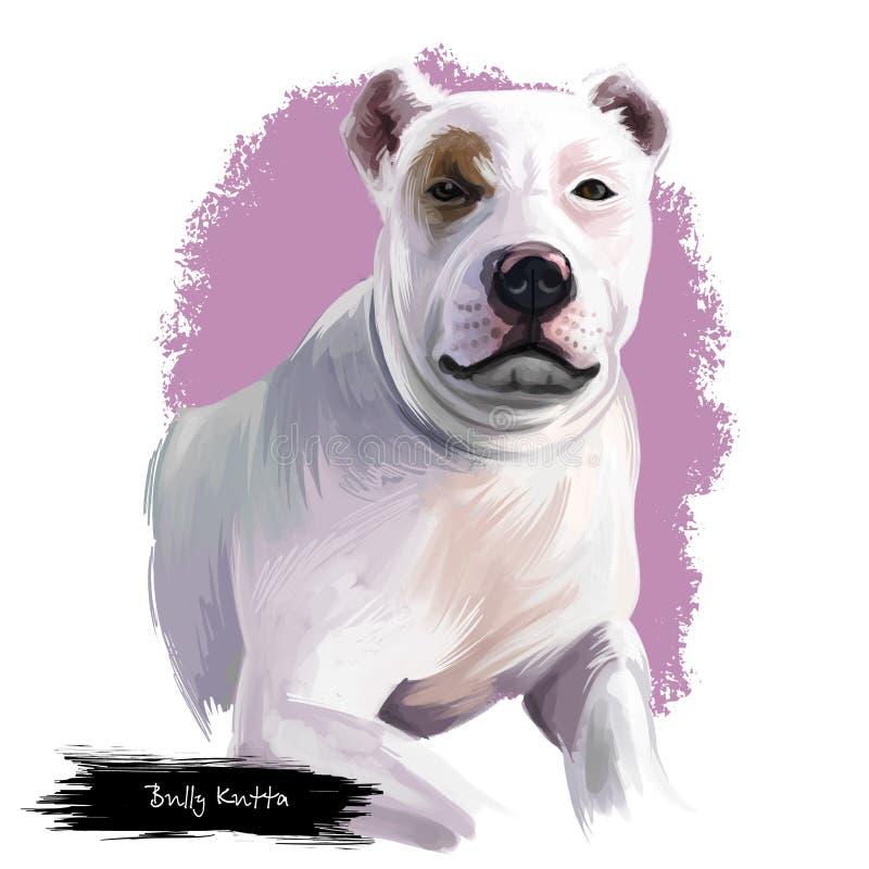 Race de chien de Kutta de despote d'isolement sur l'illustration numérique d'art de fond blanc Despote Kutta ou mastiff ou Indien illustration de vecteur