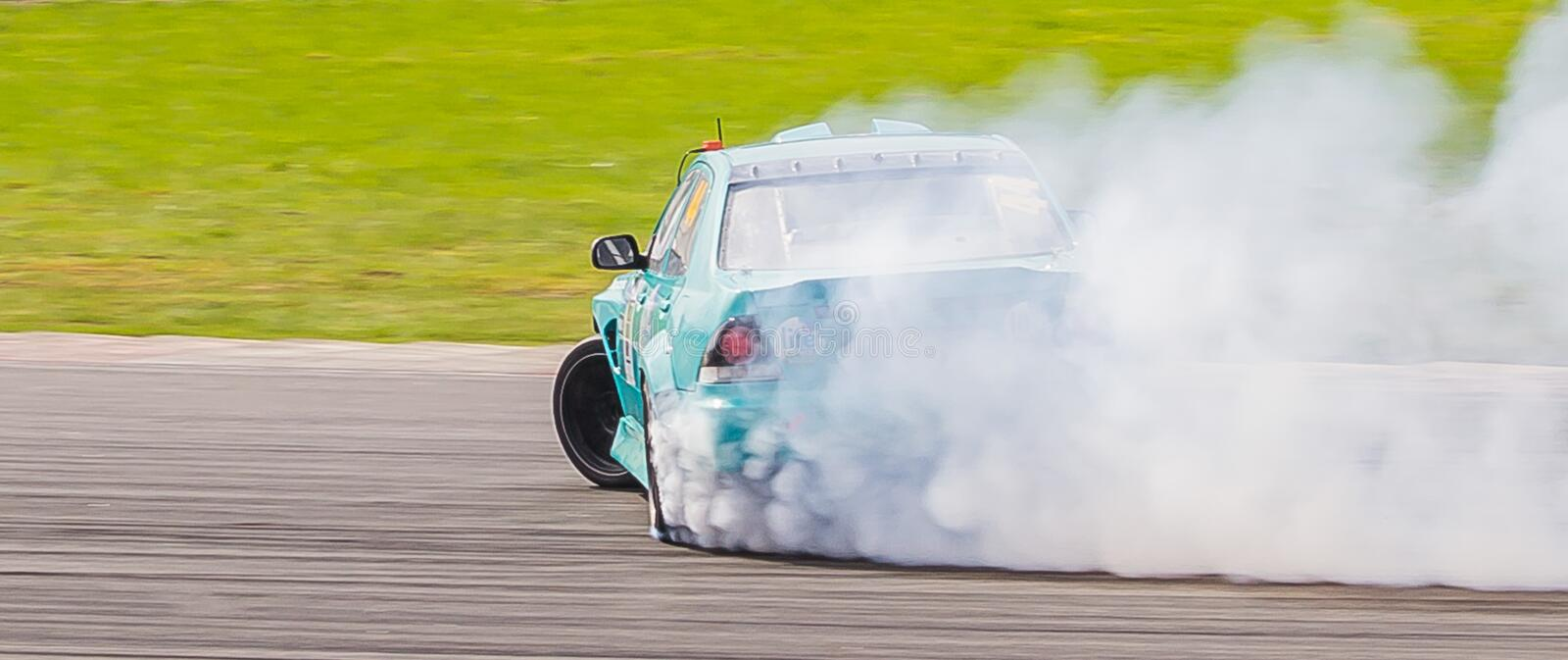 Race drifting car on champions in moskou royalty-vrije stock foto
