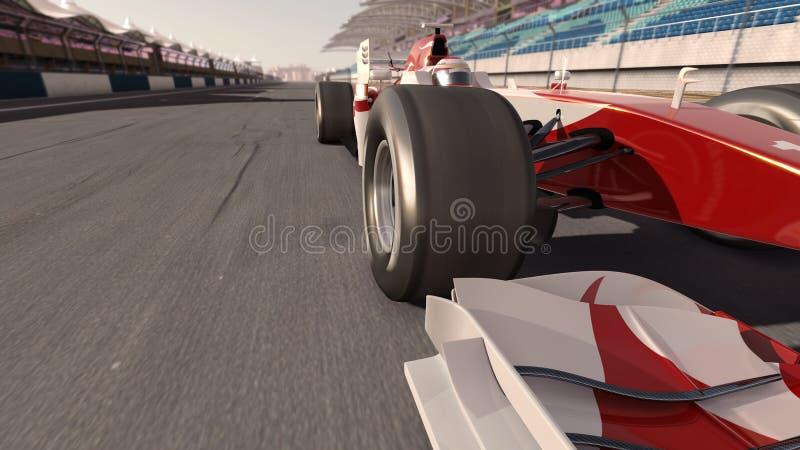race för bilformel en royaltyfri fotografi