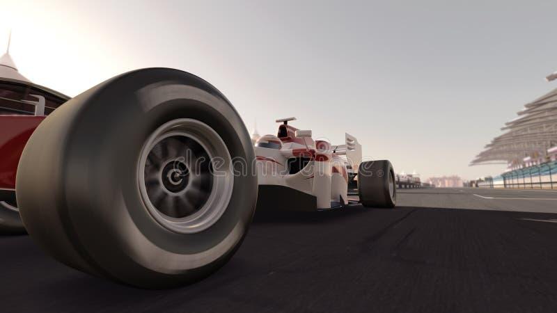 race för bilformel en royaltyfria foton