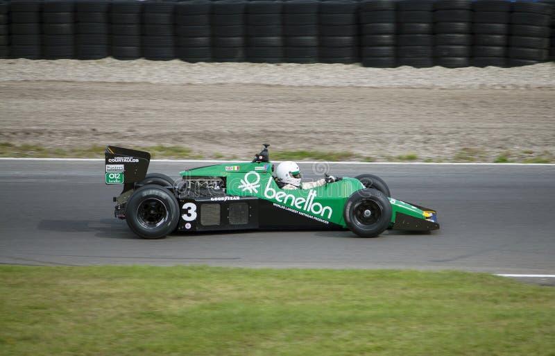 Race för formel 1 i Zandvoort royaltyfri bild