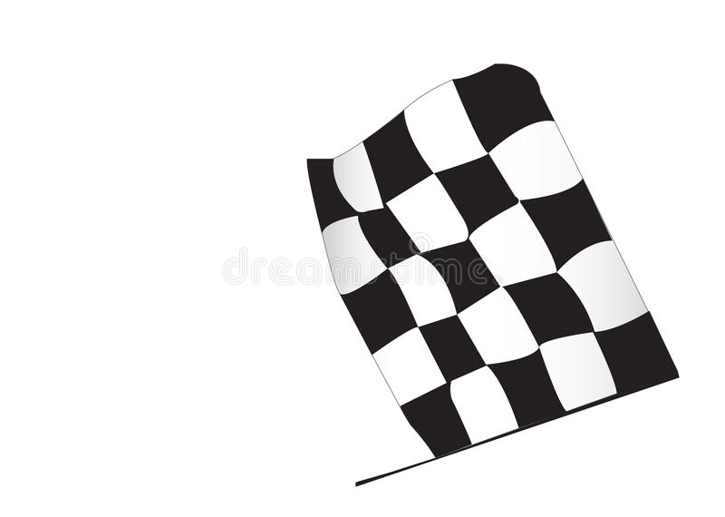 Download Race Flag stock illustration. Illustration of over, racing - 13190006