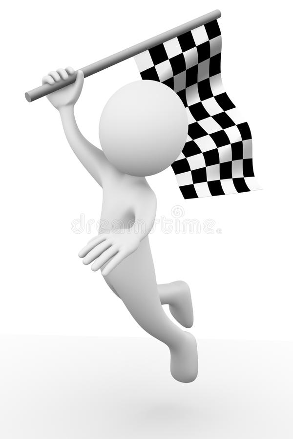 Download Race flag stock illustration. Illustration of challenge - 17242373