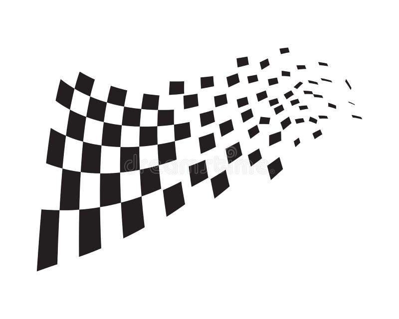 Race flag icon design vector illustration