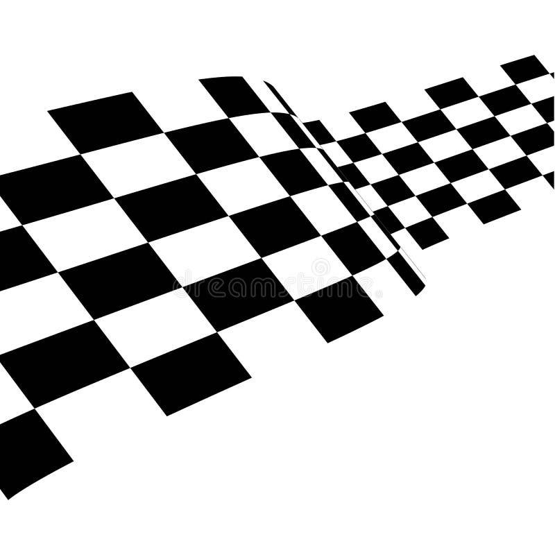 Race flag icon design royalty free illustration