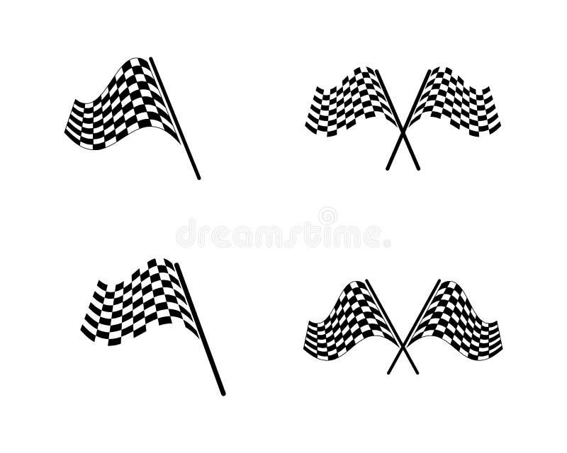Race flag icon, simple design race flag logo stock illustration