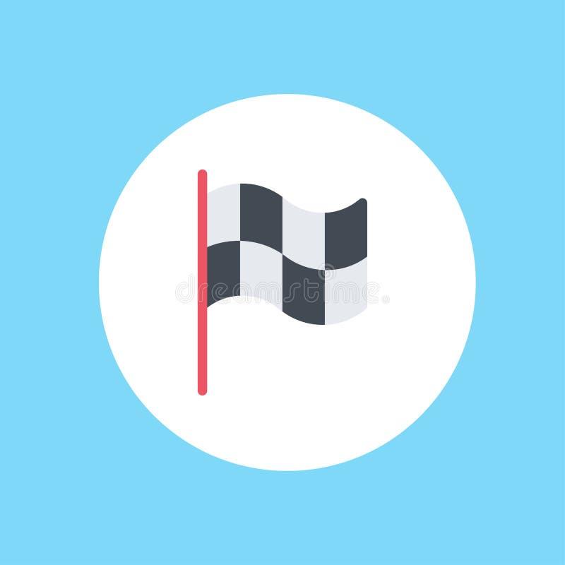Race flag vector icon sign symbol stock illustration