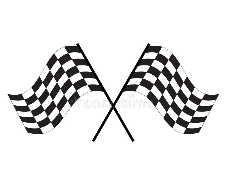 Race flag icon on white background. finishing flag sign. start symbol. racing flag icon for your web site design, logo, app, UI royalty free illustration