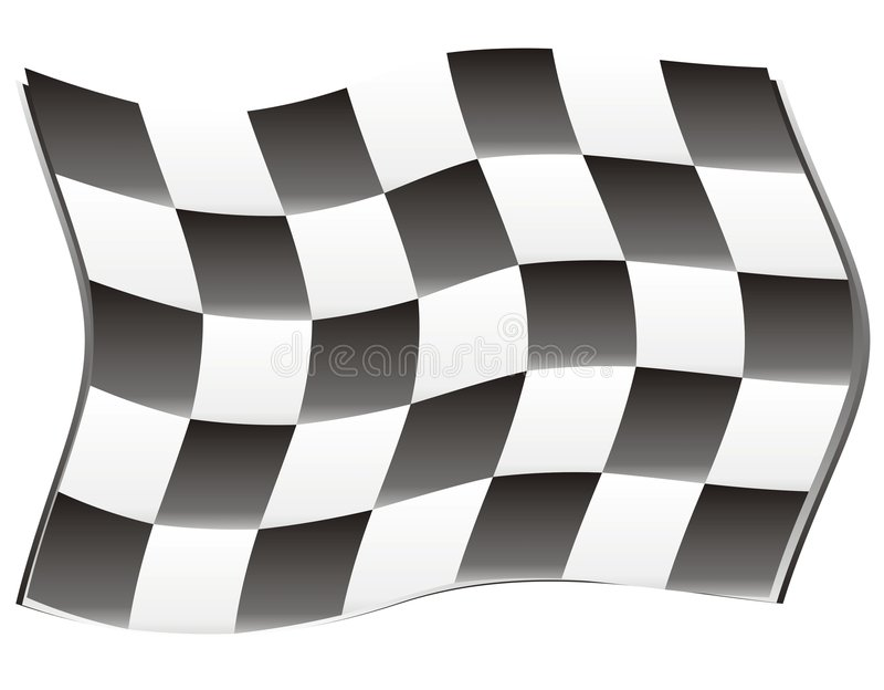 Race flag wind royalty free illustration