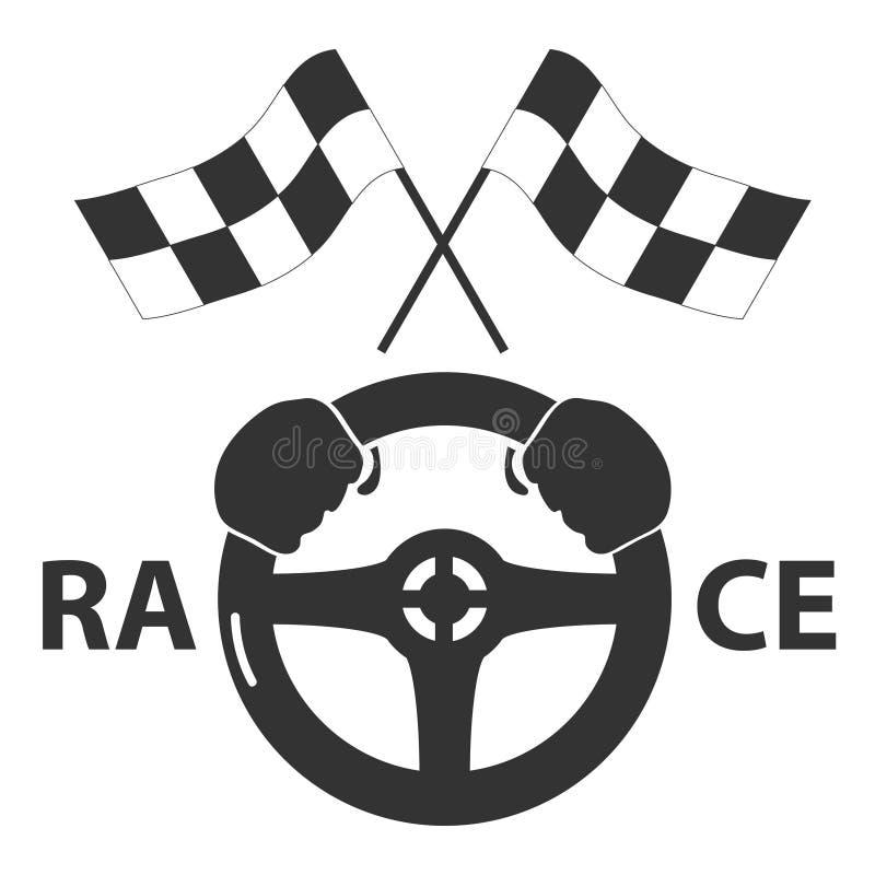 Race icon stock illustration