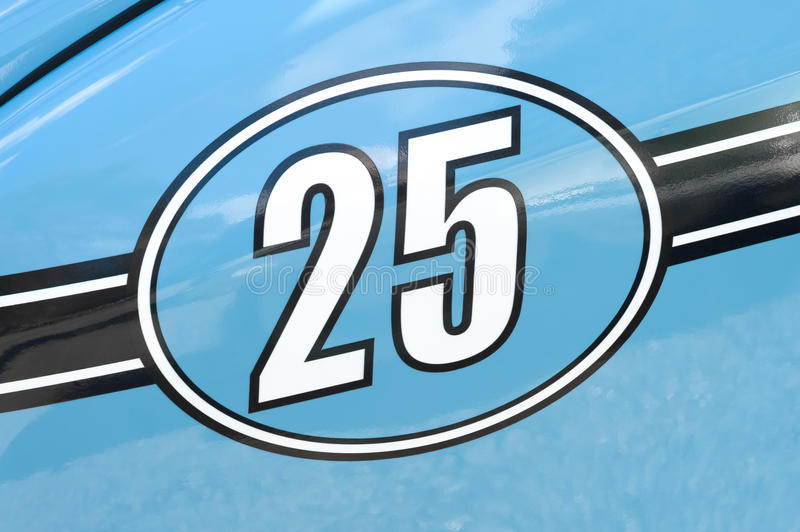 Race number 25 stock photo