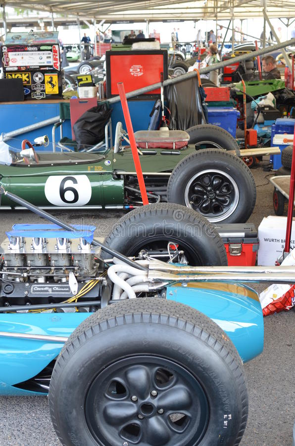 In the race paddock at the Goodwood Revival. royalty free stock photography