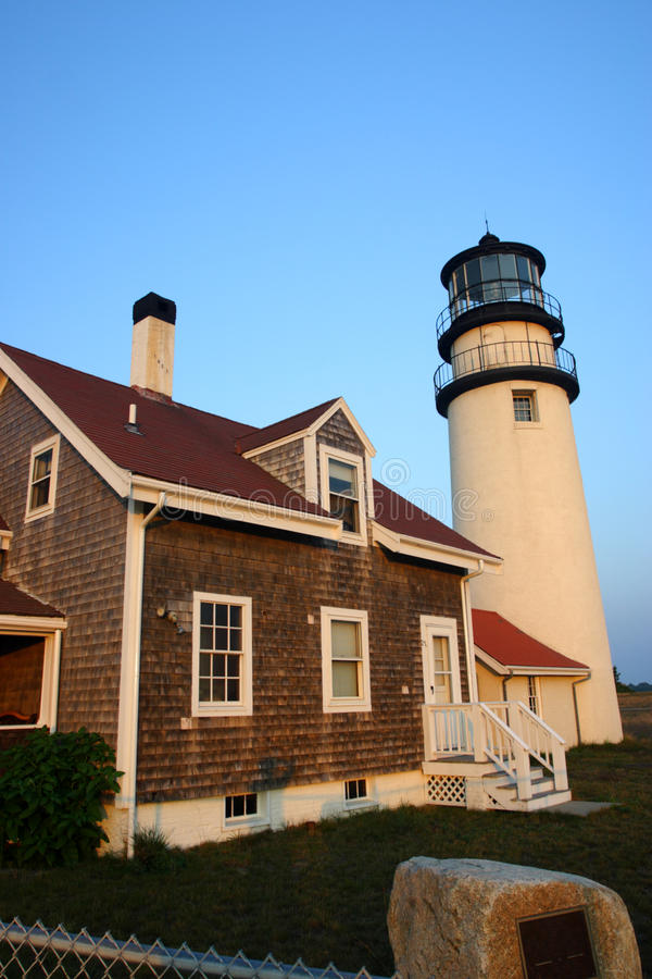 Race Point Light is a historic lighthouse on Cape Cod, Massachusetts.  royalty free stock image
