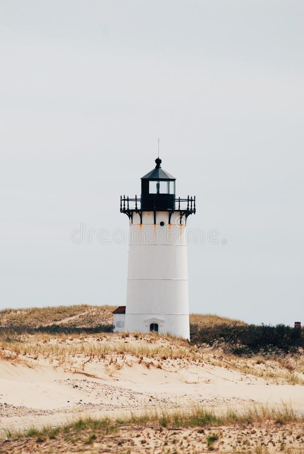 Race Point lighthouse, Cape Cod. Background royalty free stock image