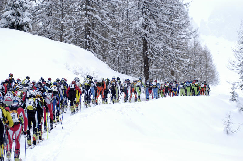 Race Of Ski Touring Editorial Photography