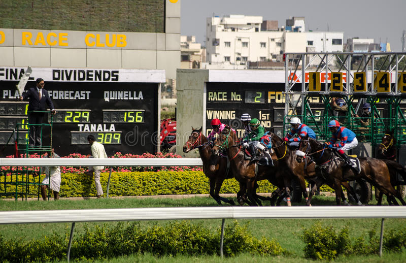 Download Race Start, Hyderabad editorial image. Image of stalls - 29398300