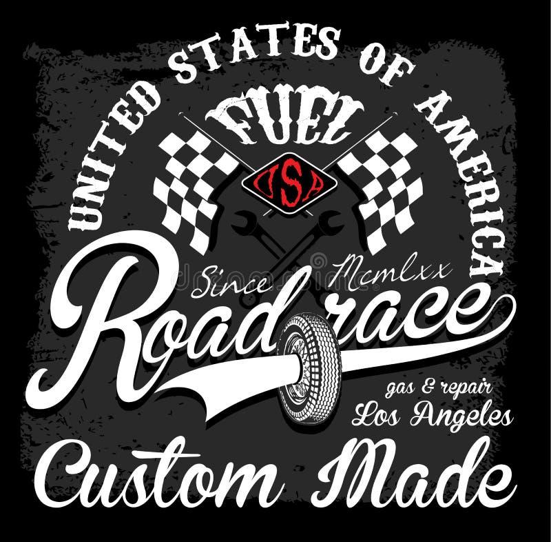 Race t shirt graphic design vector illustration
