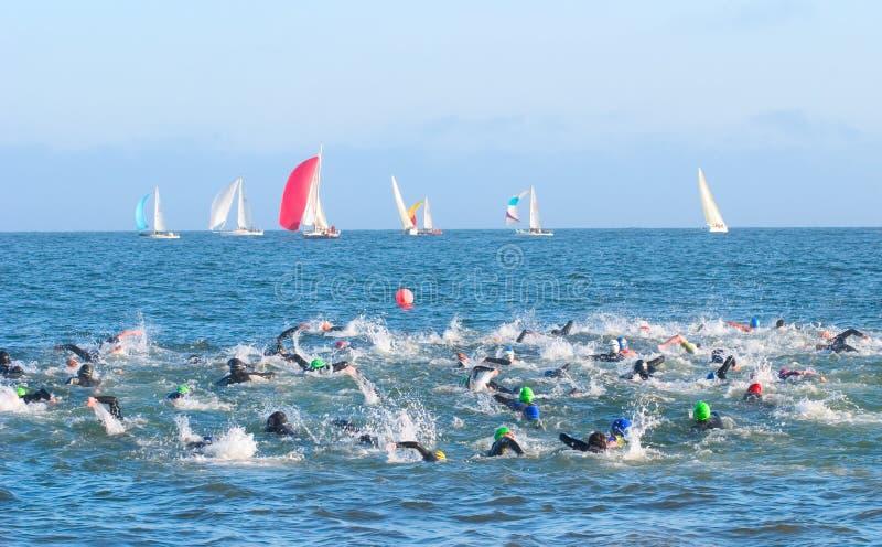 Race to the Buoy stock photo