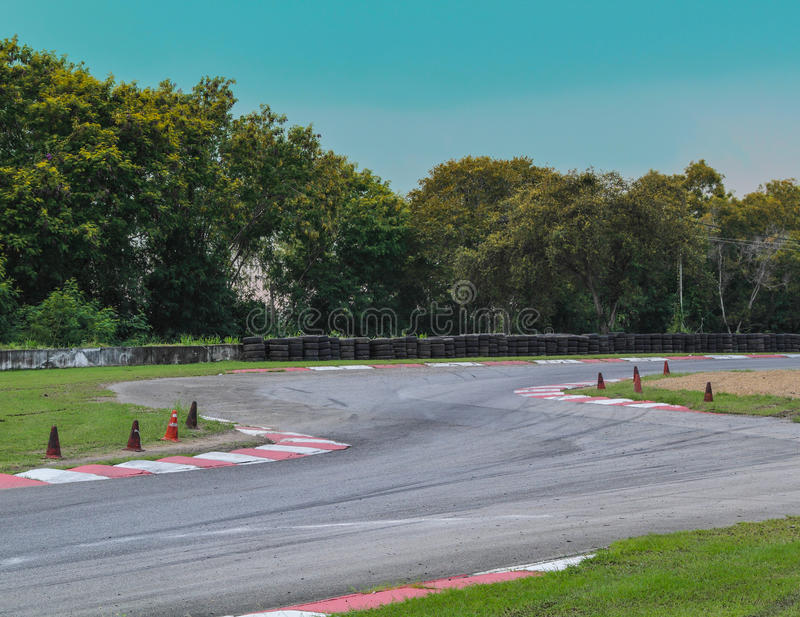 Race track curve royalty free stock image