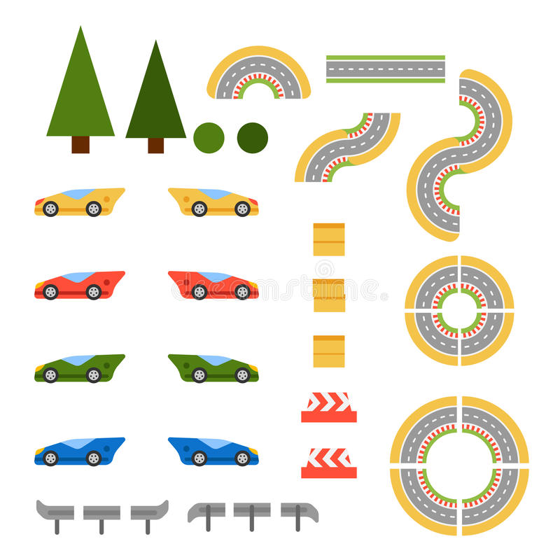 Race track curve road royalty free illustration