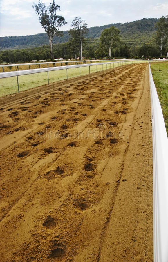 Download Race Track With Horse's Footprint Royalty Free Stock Image - Image: 12319986