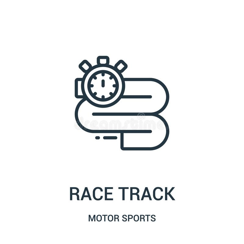 race track icon vector from motor sports collection. Thin line race track outline icon vector illustration. Linear symbol stock illustration