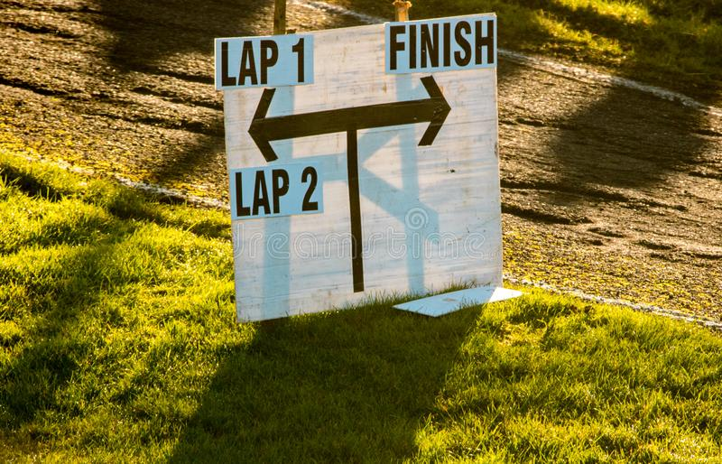 Race Track. A typical view of a tarmac racetrack section stock image