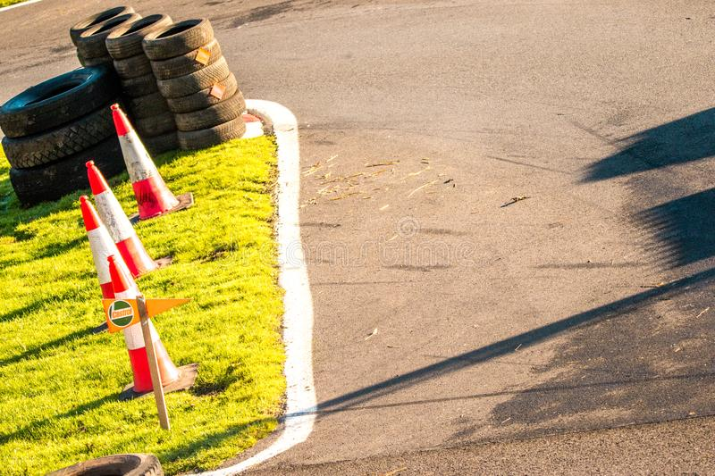 Race Track. A typical view of a tarmac racetrack section stock photography