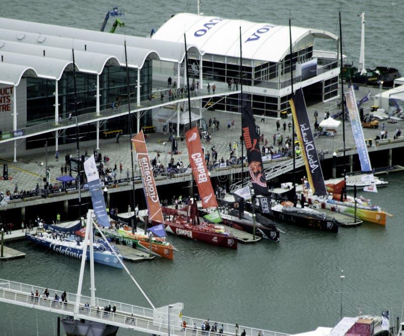 race volvo för port för auckland fartyghav royaltyfri bild