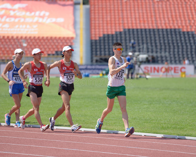 Download Race Walk editorial stock image. Image of brill, athletes - 32320754