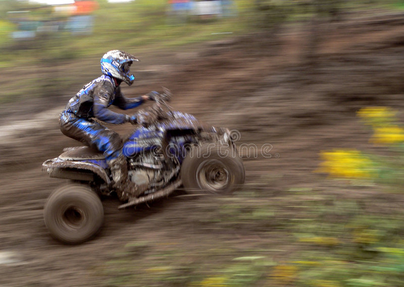 Raceauto ATV royalty-vrije stock fotografie