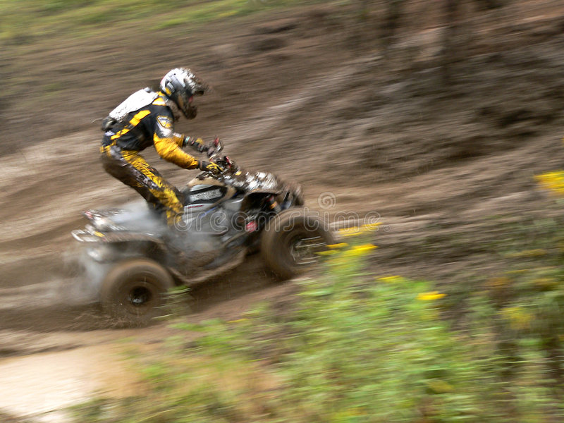 Raceauto ATV royalty-vrije stock foto's