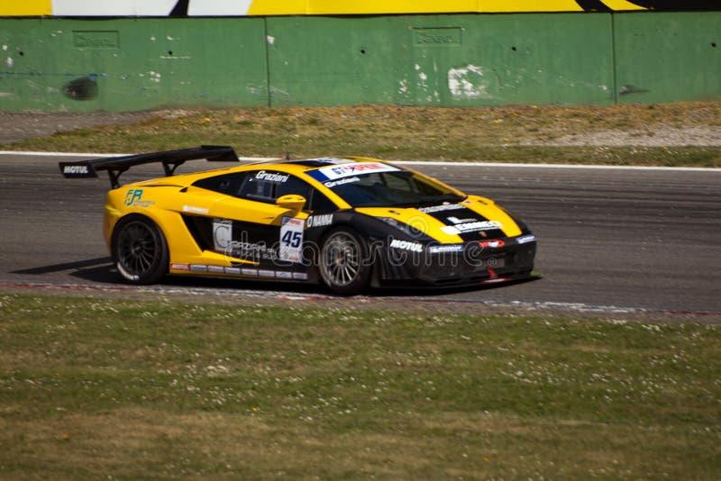 Raceauto in de Verzameling van Monza stock foto