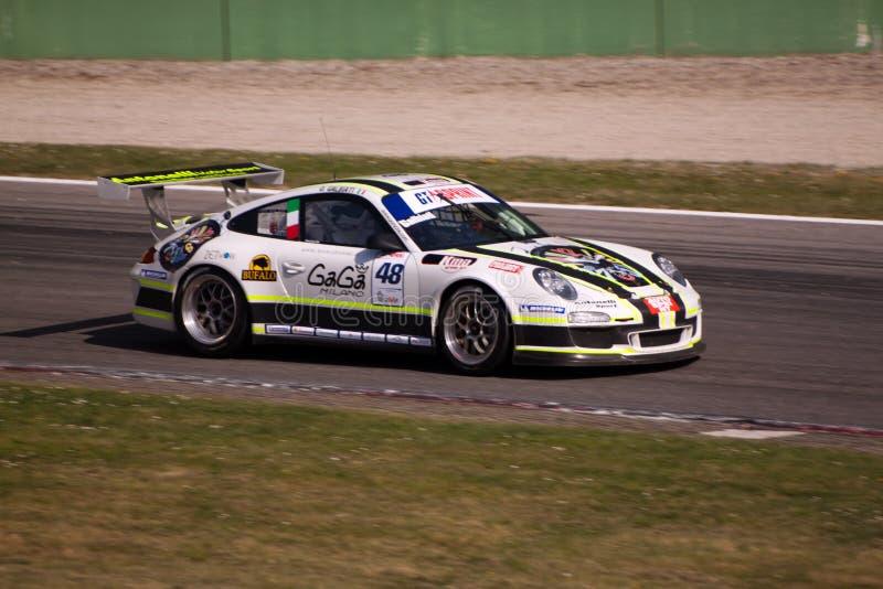 Raceauto in de Verzameling van Monza stock foto's