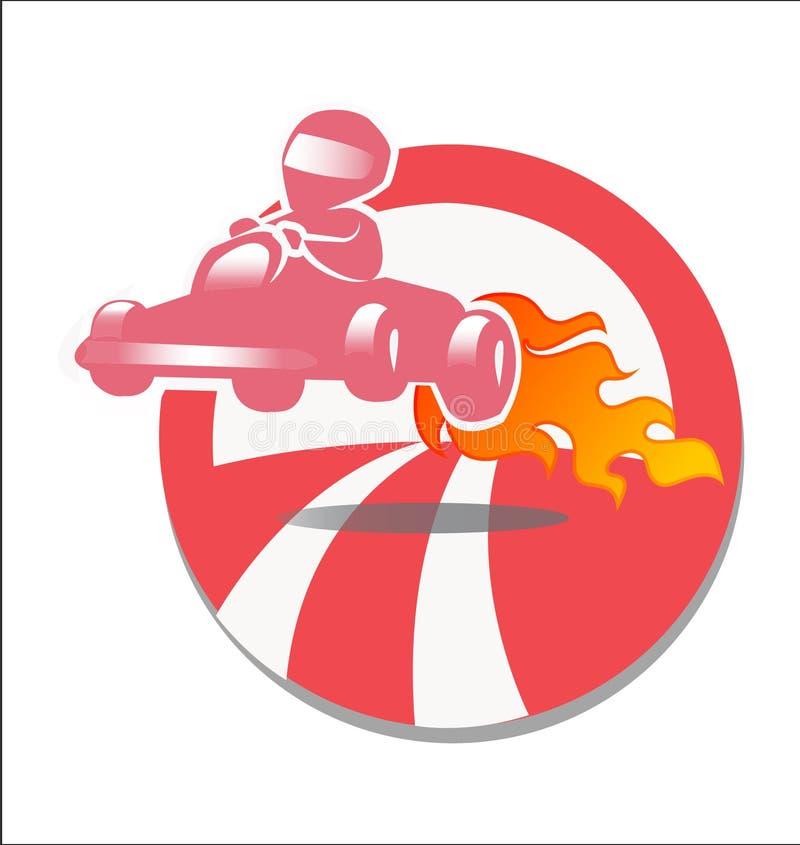 Raceauto gokart royalty-vrije illustratie