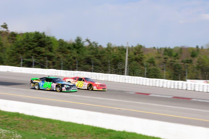 Raceauto NASCAR stock foto's