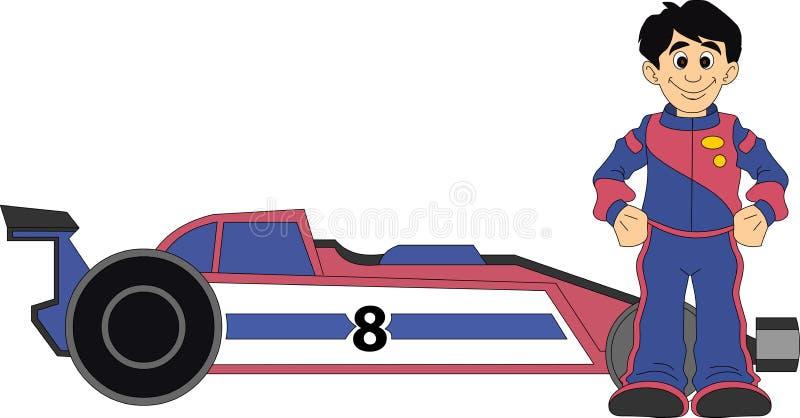 Raceautobestuurder stock illustratie
