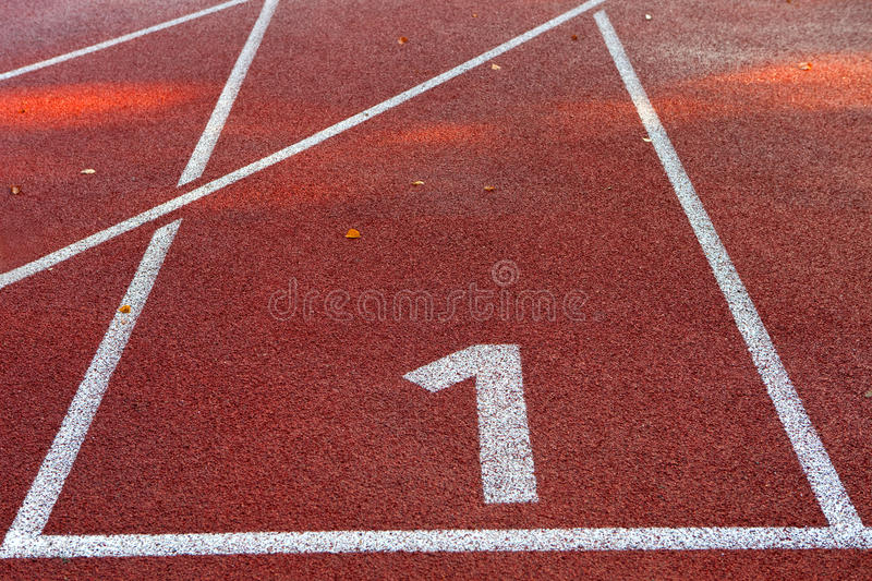 Racecourse 1. Start position number 1 of a racecourse royalty free stock photos