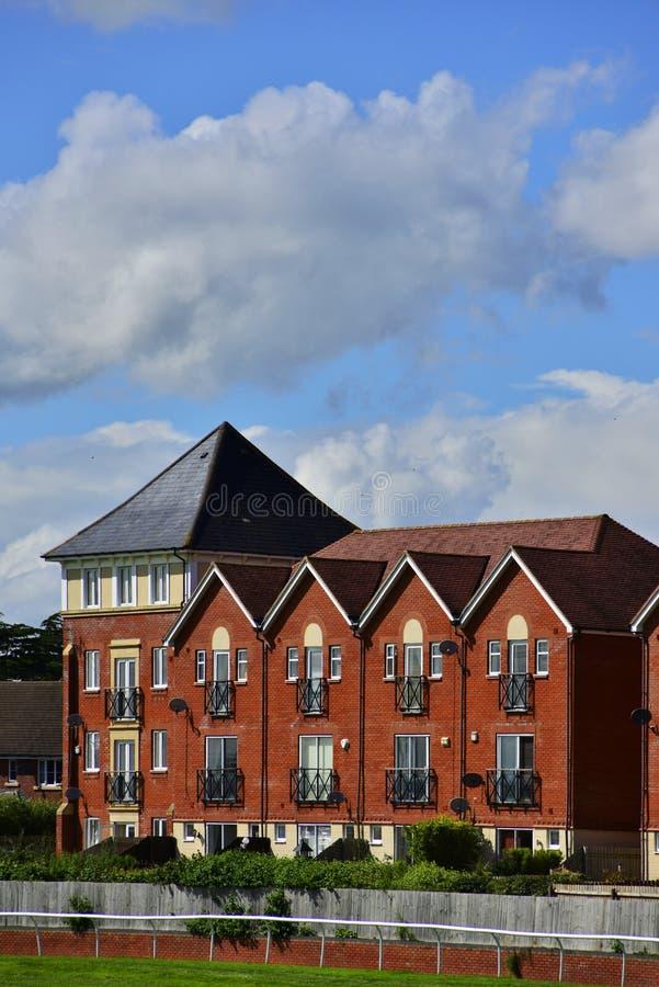 Racecourse. New housing and flats stratford upon avon warwickshire england uk stock photos