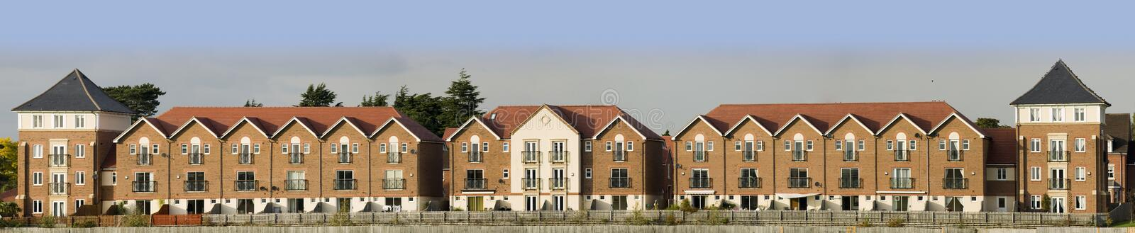 Racecourse. New housing and flats stratford upon avon warwickshire england uk royalty free stock images