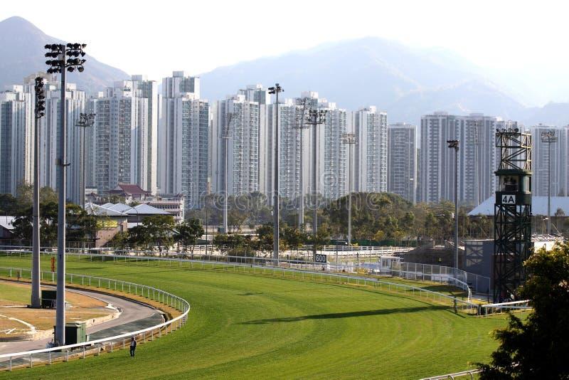 Racecourse. Sha Tin Racecourse in the HongKong stock image