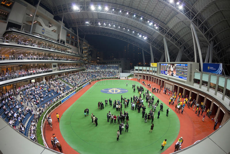 Racecourse do estanho de Sha, Hong Kong imagens de stock